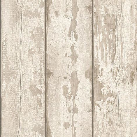 Arthouse Wallpaper White Washed Wood 694700