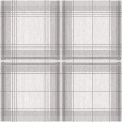 Arthouse Wallpaper Woven Check Grey & White 903102