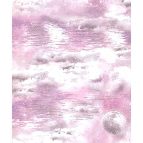 Arthouse Watery Skies Pink Wallpaper