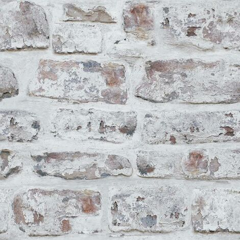 Arthouse White Washed Brick Effect ArtiStick Peel And Stick Wallpaper Vinyl