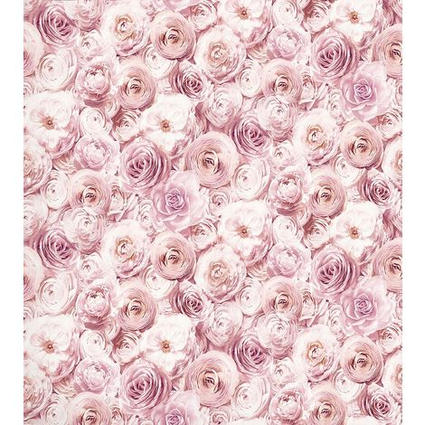 Arthouse Wild Rose Floral Wallpaper Blush Pink Petals Flowers 3D Feature Wall