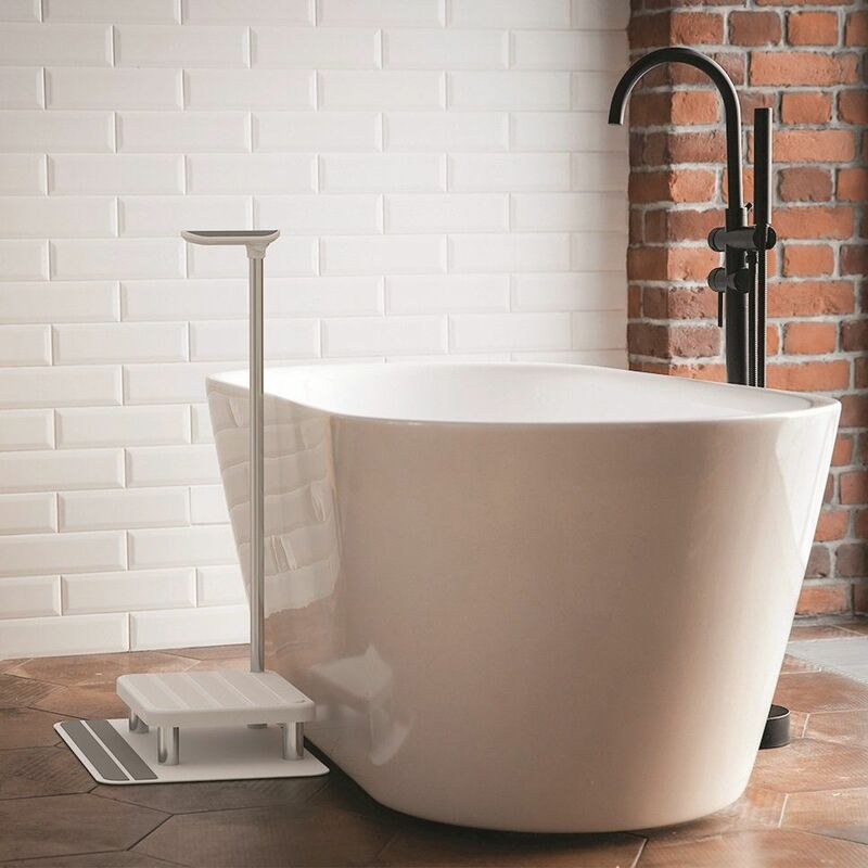 Image of Arthr Assisted Bath Support Step Durable White/Grey Independent Living 100003