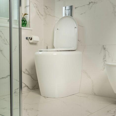 Arthr Assisted Toilet Riser Frame Toilet Seat Soft Close Gloss White 100002