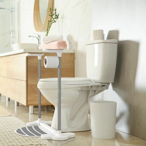 Arthr Assisted Toilet Support Frame Toilet Roll Holder Gloss White UK 100004