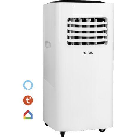 ARTIC-160 - Climatiseur mobile froid/chaud, 2,05kW, classe A, 4 en 1: refroidissement de 7000BTU/h, 1765 frigories, chauffage, ventilateur, deshumidificateur, isolation avec telecommande, espaces entre 10-15m²