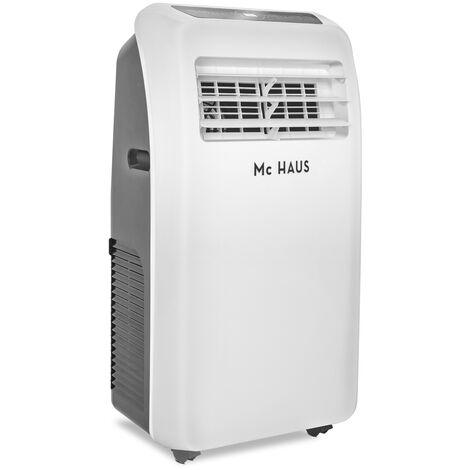 ARTIC-20 - Climatiseur mobile de 9000 BTU/h, systeme SILENTBLOCKS, 2268 frigories, 2,6kW, classe A, 3 en 1: glaciere, ventilateur et déshumidificateur, avec telecommande, espaces entre 25-35m²