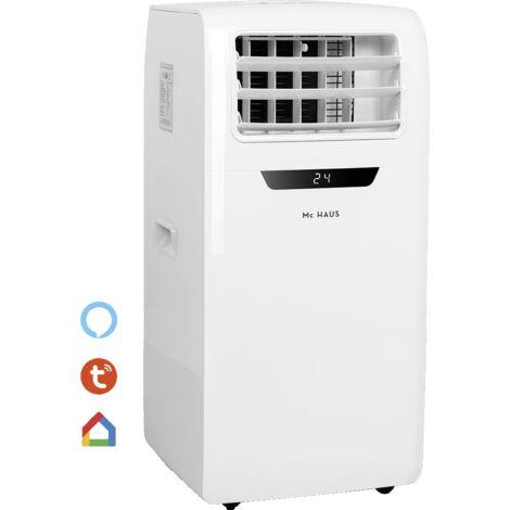 ARTIC-260 - Aire acondicionado portatil frio/calor, enfiador movil, 2,6kW, clase A, 4 en 1: refrigeración 9000BTU/h, 2268 frigorias, calefaccion, ventilador, deshumidificador, ionizador y mando a distancia, para 12-18m²