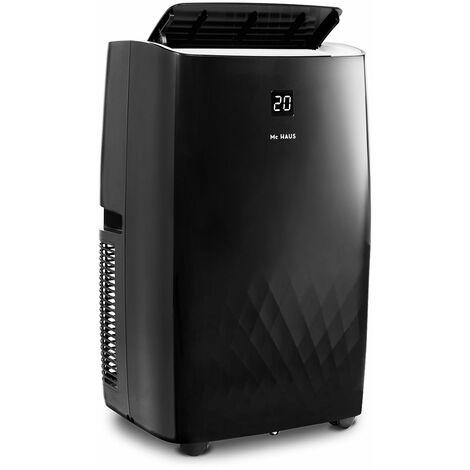 ARTIC-30 - Aire acondicionado portátil, sistema SILENTBLOCKS, enfriador móvil de 12000 BTU/h, 3026 frigorías, 3,5kW, clase A, 3 en 1: refrigerador, ventilador y deshumidificador, mando a distancia, espacios entre 35-45m²