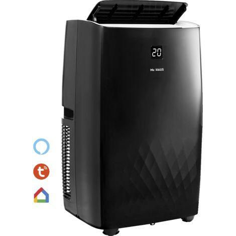 ARTIC-30 - Climatiseur mobile de 12000 BTU/h, systeme SILENTBLOCKS, 3026 frigories, classe A, 3 en 1: glaciere, ventilateur et deshumidificateur, avec telecommande, espaces 35m²