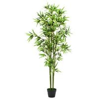 Artificial Bamboo Plant with Pot 175 cm Green