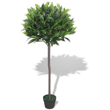 Artificial Bay Tree Plant with Pot 125 cm Green