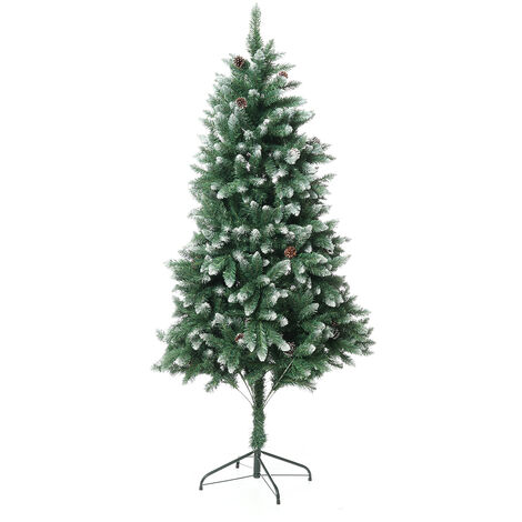 Artificial Christmas-tree green 6FT 1000 peak branch with 34 pinecones tree ornament for Christmas deco house party Mohoo