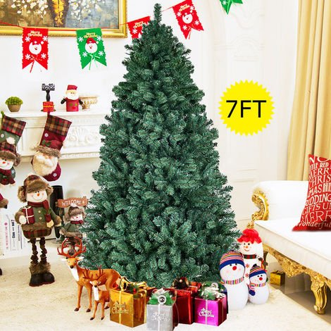 Artificial Christmas Tree Green Xmas Trees Autoform 3 Tier Needles 7FT 210CM UK