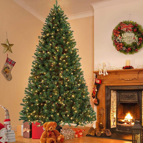 Artificial Christmas tree Plastic Christmas Decorations Holder Base For Christmas Home Party Decoration Green Miniature Tree 7.5ft