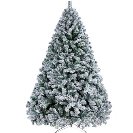 Artificial Christmas tree Plastic Christmas Decorations Holder Base For Christmas Home Party Decoration Green White Miniature Tree 72 inch