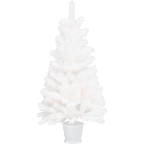 Artificial Christmas Tree with a Pot White 90 cm PE