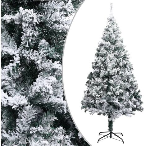 Artificial Christmas Tree with Flocked Snow Green 180 cm PVC