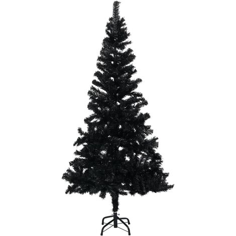 Artificial Christmas Tree with Stand Black 150 cm PVC