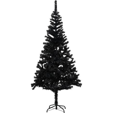 Artificial Christmas Tree with Stand Black 180 cm PVC
