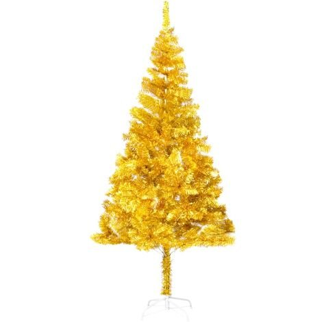 Artificial Christmas Tree with Stand Gold 180 cm PET - Gold