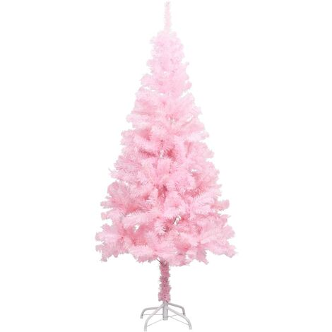 Artificial Christmas Tree with Stand Pink 150 cm PVC