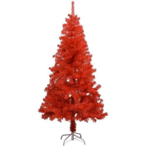 Artificial Christmas Tree with Stand Red 150 cm PVC