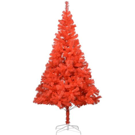 Artificial Christmas Tree with Stand Red 213 cm PVC