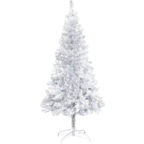 Artificial Christmas Tree with Stand Silver 152 cm PET