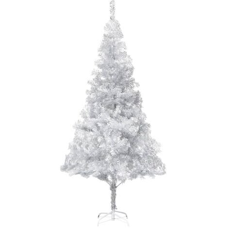 Artificial Christmas Tree with Stand Silver 180 cm PET