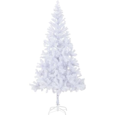Artificial Christmas Tree with Steel Stand 210 cm 910 Branches - White