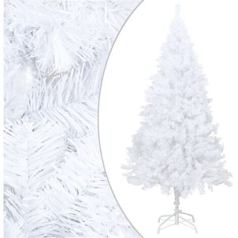 """main image of """"Artificial Christmas Tree with Thick Branches White 150 cm PVC"""""""