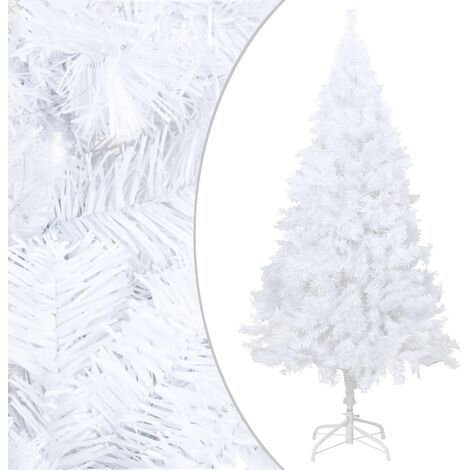 Artificial Christmas Tree with Thick Branches White 150 cm PVC - White