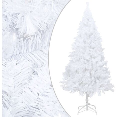 Artificial Christmas Tree with Thick Branches White 210 cm PVC