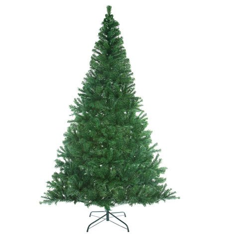 Artificial Christmas Tree Xmas Green White 140 180 240cm Bushy Pine Decoration
