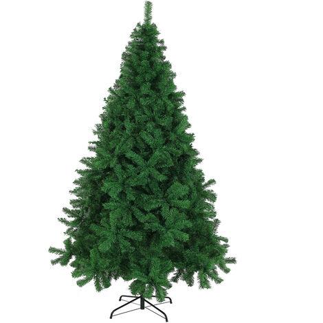 Artificial Christmas Tree Xmas Green White 140 180 240cm Bushy Pine Decoration