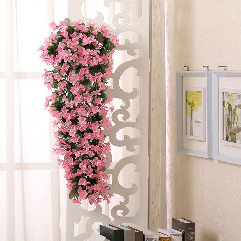 Artificial Fake Flowers Cluster Indoor Outdoor Hanging Garland Silk Flower Leaf