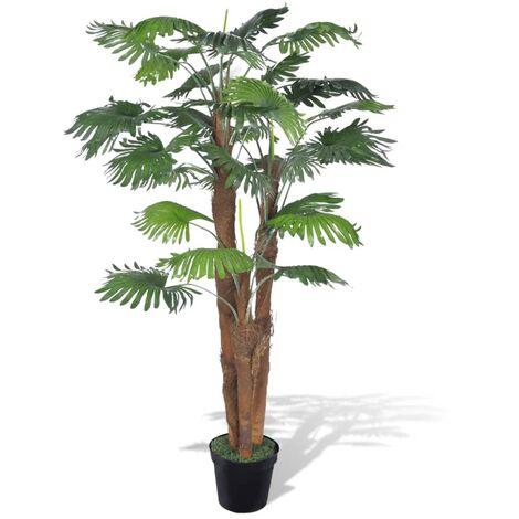 Artificial Fan Palm Tree with Pot 180 cm - Green