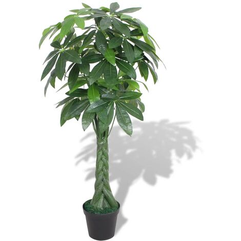 Artificial Fortune Tree Plant with Pot 145 cm Green