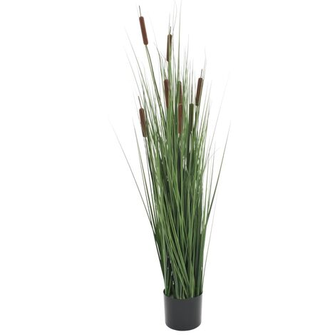 Artificial Grass Plant with Bulrush 120 cm