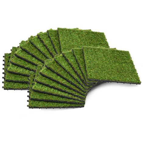 Artificial Grass Tiles 20 pcs 30x30 cm Green