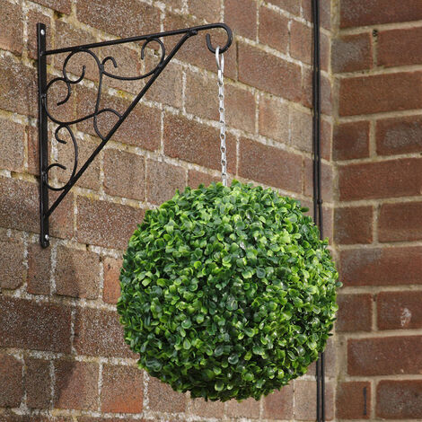 Artificial Green Boxwood Topiary Balls Hanging Outdoor Garden