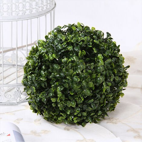 Artificial Green Boxwood Topiary Balls Outdoor Garden Basket Plant