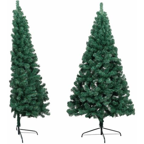 Artificial Half Christmas Tree with Stand Green 210 cm PVC