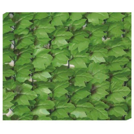 Artificial hedge roll JET7GARDEN 1.50x3m - soft green - ivy leaves