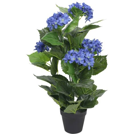 Artificial Hydrangea Plant with Pot 60 cm Blue