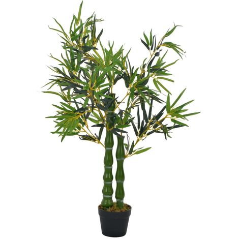 Artificial Plant Bamboo with Pot Green 110 cm