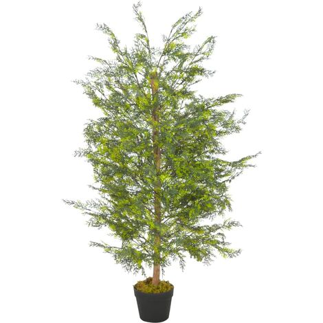 Artificial Plant Cypress Tree with Pot Green 120 cm
