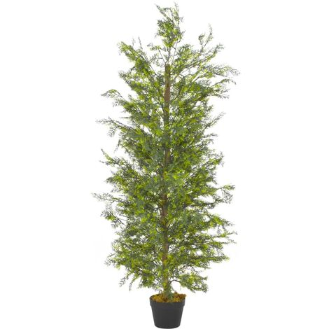 Artificial Plant Cypress Tree with Pot Green 150 cm
