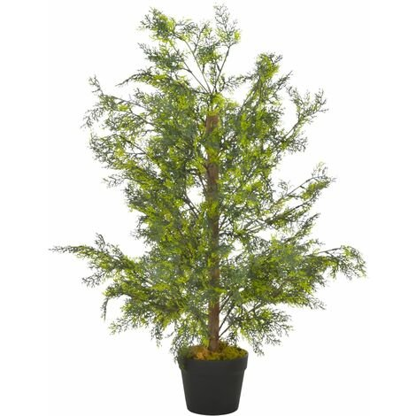 Artificial Plant Cypress Tree with Pot Green 90 cm
