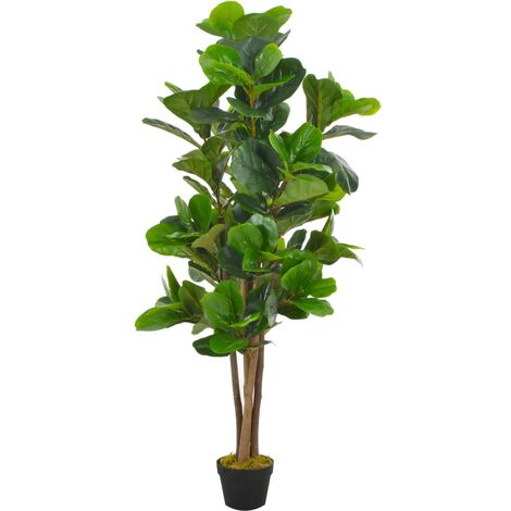 Artificial Plant Fiddle Leaves with Pot Green 152 cm